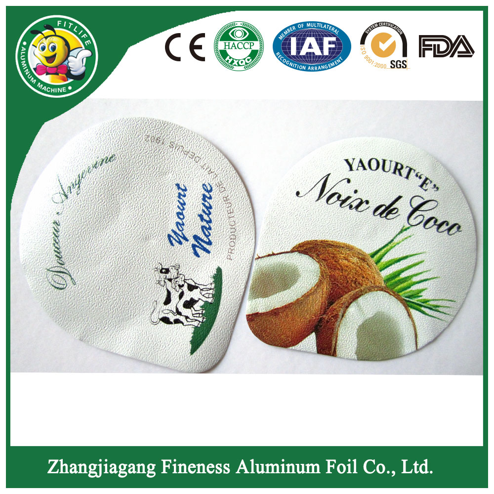 Disposable Printed Yogurt Foil Lid