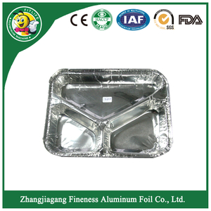 Fast Food Aluminum Foil Container for Airline