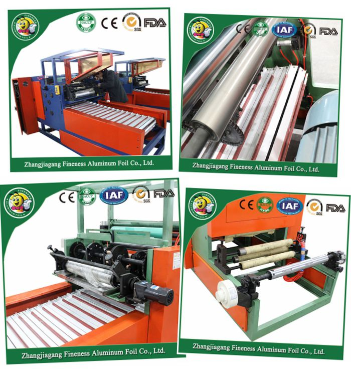 Fully Automatic Aluminum Foil Rewinding and Cutting Machine